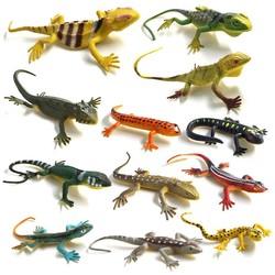 MyXL 12 stks/Hagedissen Reptiel Simulatie plastic bos wild dier model speelgoed ornamenten Levensechte PVC beeldje woondecoratieVoor Kids