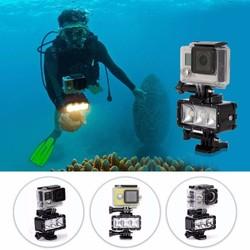 MyXL Waterdichte LED Duiken Licht 30 M Onderwater Dimbare voor GoPro Hero 5 4 Zwart Xiaomi Yi 4 K SJCAM SJ4000 Eken H9 Mount Accessoire