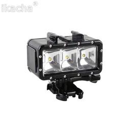 MyXL Camera 30 M Onderwater Waterdichte Dimbare LED Flash Light + Batterij Voor Gopro Hero 6 5 4 3 + 3 Sessie Voor XiaoMi Yi 4 K