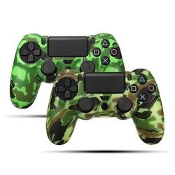 MyXL Duurzaam vinyl decal camouflage siliconen rubber zachte mouw huid grip beschermhoes protector voor playstation voor dualshock 4 <br />  ShirLin