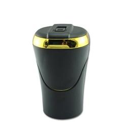 MyXL Afneembare 2 In 1 Set Sigarettenaansteker Auto Bekerhouder Sigaret Asbak Led Licht Reizen Draagbare Auto Asbak