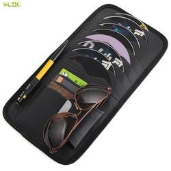 MyXL Auto CD DVD Zonneklep Card Case Opslag Houder Clipper Bag Pocket Voor Audi A4 A6 C5 C6 A3 A5 A7 Q3 Q5 Voor E46 E39 E90 E36 E34