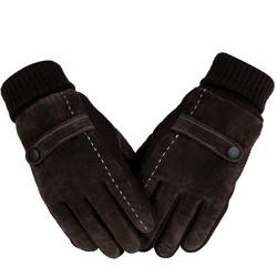 MyXL Aankomst mannen Echt Varkensleer Handschoenen Winter Handschoenen Mannen Koude Proof Warme Handschoenen Breien Witte Lijn Patchwork Handschoenen