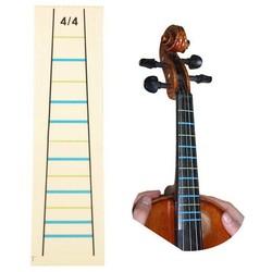 MyXL 4/4 Viool Praktijk Fiddle Vinger Gids Sticker Violino Toets Fretboard Indicator Positie Marker