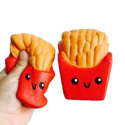 MyXL Funny Squishy Speelgoed Frieten/Regenboog Ijs Elastische PU Stress Antistress Squeeze Speelgoed Kids Telefoon Strap Decor geschenken