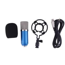MyXL Professionele BM700 Studio Microfoon Speakers 3.5mm Wired Condensator Geluidsopname Shock Mount Radio Braodcasting