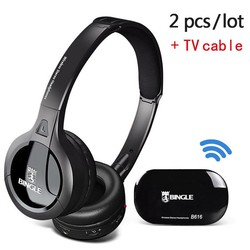 MyXL Bingle B616 FM Radio Hoofdtelefoon TV Headset Multifunctionele Stereo Draadloze met Microfoon FM Verhouding voor MP3 PC TV Telefoons