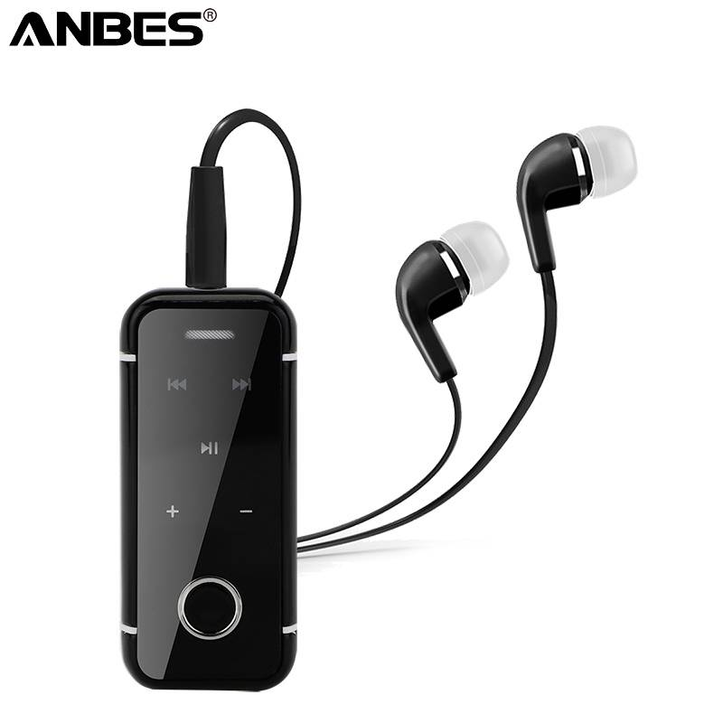Draagbare Koptelefoon Mini Clip Op Stereo Headset Draadloze Bluetooth Oortelefoon Met Mic-Hand grati