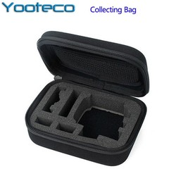 MyXL Zwarte kleine/medium/grootste maat shockproof portable case verzamelen box voor sjcam sj4000 gopro hd hero 3 + 3 2 eken h9 action Cam