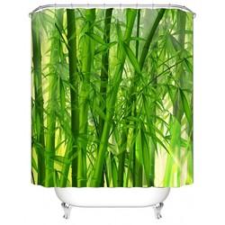 MyXL Urijk 3D Digitale Groene Bamboe Print Haak Waterdichte Douchegordijn Voor Badkamer Douche Woondecoratie Polyester