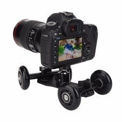 MyXL Tafelblad Mobiele Rolling Slider Dolly Auto Skater Video Track Rail Stabilizer voor Sport Action/Mirrorless Systeem/Dslr-camera