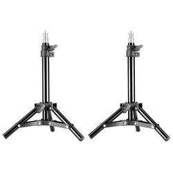MyXL Neewer 2 Stuks Licht Stand Fotografie Fotostudio 50 cm/20 inch Aluminium Mini Tafel Top Backlight Stand