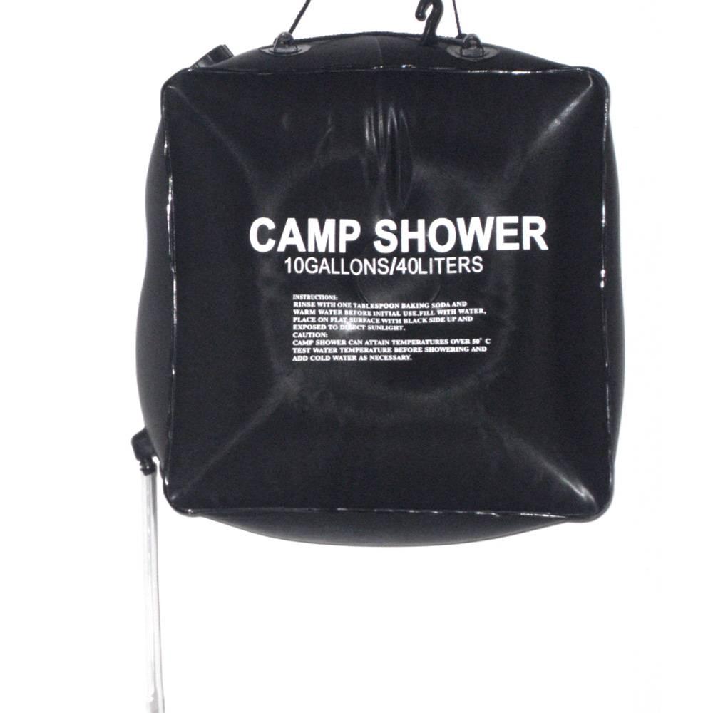 1 STKS 40L 10 Gallon Camping Zonne-energie Verwarmd Kamp Douche Bag Douche Waterzak Vissen Camping Picknick BBQ Wandelen Water opslag
