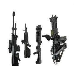 """MyXL 4 stks/set Wapen Marksman Sniper Shotgun Rifle Machine Gun Turret Voor 6 """"Halo Figuur"""
