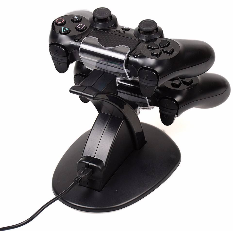 Dual led usb lader opladen dock stand station voor sony ps4 playstation 4 games controller console g