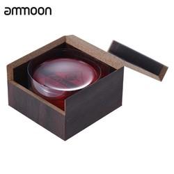 MyXL Hoge Klasse Transparante Rode Hars Colofonium Lage Dust Handgemaakte Afgeronde met Houten Doos Universele forString Instrumenten