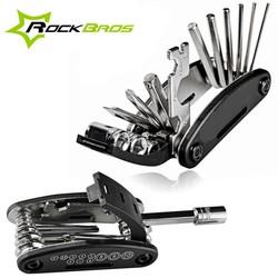 MyXL ROCKBROS Mini Multifunctionele Fiets Reparatie Stand Tool 16 in 1 Kit Mountain Gereedschap Bike Fietsen Vouwen Schroevendraaier Inbussleutel