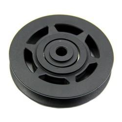 MyXL JHO-95mm Zwarte Lager Takelwiel Kabel Gym Apparatuur Deel Antihechtende