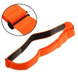 MyXL Oranje Elastische Borst Riem Band voor Wahoo Garmin Polar Sport Running Hartslagmeter voor Bluetooth 4 0