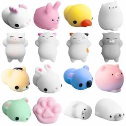 MyXL 16 STKS GrappigeHealing Squeeze Antistress Speelgoed Leuke Mochi Squishy Kat Squeeze Healing Kids Kawaii Toy Stress Reliever Decor