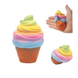 MyXL 10 CM Ijs Leuke Squishy Voedsel Verlicht Stress Trage Stijgende Kleurrijke Regenboog Gags Joke Party PropsSpeelgoed P15