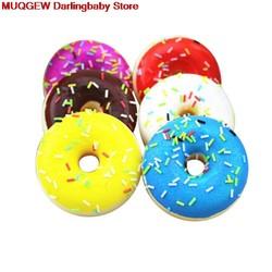 MyXL Squishy Squeeze Kleurrijke Doughnut Decoratie Sleutel Mobiele Telefoon Riemen Funny Gadgets Anti Stress Nieuwigheid Antistress Speelgoed Oyuncak