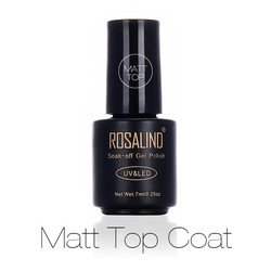 MyXL Zwarte Fles 7 ML Matt Top Coat Gel Nagellak Nail Art Nail Gel Polish UV LED Weken-off Dull Frosted Oppervlak Permanente <br />  Rosalind