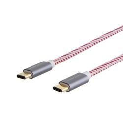 MyXL Type C-C,  10ft/3 m gevlochten usb 2.0 type c (usb-c) om type-c data oplaadkabel (3a) <br />  cablecreation