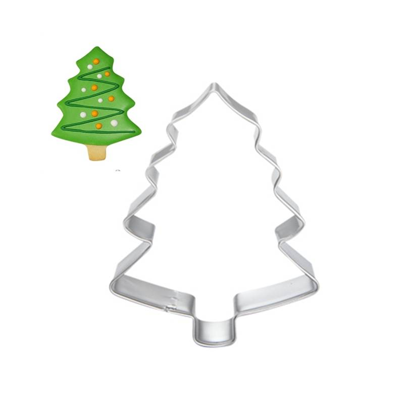 Kerstboom Cookie Tool Cutter Mould Biscuit Druk Icing Set Cake Stencil Rvs Fondant Dessert Decoratie