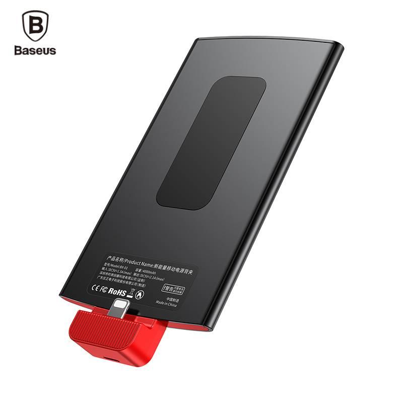4000 mAh Power Bank Voor iPhone 7 6 6 s Plus 5 5 s SE Rugzak Draagbare Externe Batterij Oplader Voor