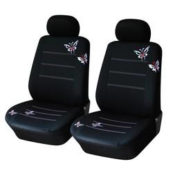 MyXL Vlinder Geborduurde Auto Bekleding Universele Meeste Voertuigen Zetels Interieur Accessoires Zwarte Stoelhoezen <br />  AUTOYOUTH