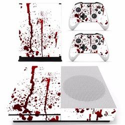 MyXL Bloody red Splash ploetert Vinyl Cover Decal Xboxone S Huid Sticker Voor Xbox Een S Slim Console 2 Controller Skins Stickers <br />  ARRKEO