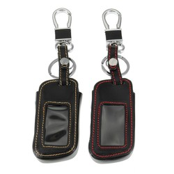 MyXL Lederen Auto Afstandsbediening Sleutel Case Cover met Sleutelhanger Key Protector voor Starline A93 A63 Twee Weg Auto Alarm <br />  Auzan