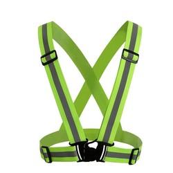 MyXL Unisex Reflecterende Riem Veiligheid Vest Hoge Zichtbaarheid Beschermende Vest Kleding Fit Voor Running Fietsen Buitensporten