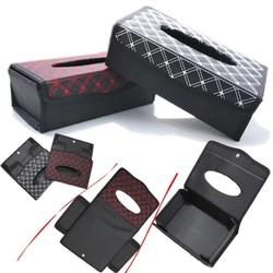 MyXL Real 23*12.5 voor CmAuto Styling Pu Tissue doos Papier Opslag Zonneklep Armsteun Type Goede Borduurwerk Luxe accessoires