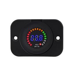 MyXL 24 V 12 V Auto Motorfiets LED Panel Digitale Voltage Meter Display Auto Voltmeter Panel Waterdicht Volt Meter Gauge voor Boot