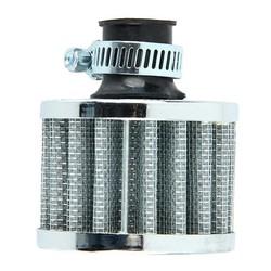 MyXL Dia 12mm Zilveren Auto Auto Motor Voertuig Luchtfilter Koude Luchtinlaatfilter Cleaner Turbo Vent Carterontluchting