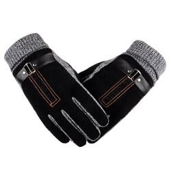 MyXL ROSICILWinter Lente handschoenen Mode doek Handschoenen Grote stretch katoen Mannen wrist pluche Handschoenen comfortble Mannen