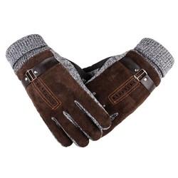 MyXL Varkensleer HandschoenenWinter Dikker Fleece Warme mannen Lederen Handschoenen Voor Mannen Wanten Lange Handschoenen Mannelijke Lederen Handschoenen 0062