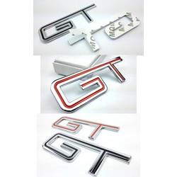MyXL 1 stks voor Mustang Chroom Metalen GT Auto Staart Stickers Emblemen Decoraties Volledige Tijd GT 3D Auto Exterieur accessoire
