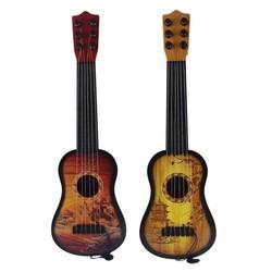 MyXL 43 cm Kinderen Gitaar 6-String Ukulele Met Verstelbare Tuners En Chinese Stijl Patroon Educatief Muziekinstrument