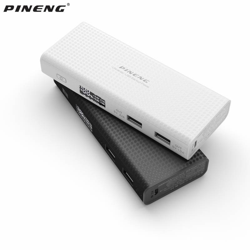 PINENG PN953 10000 mAh Dual USB Power Bank Draagbare Oplader Externe Batterij Bank Voor iPhone Xiaom