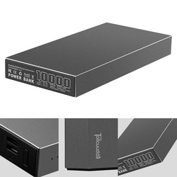 MyXL Tollcuudda Metal Case Power Bank Draagbare Oplader 10000 mAh Externe Batterij PowerBank Dual USB Voor Alle Telefoon Poverbank 2 Kleuren