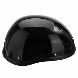 MyXL 1 Stuk ABS Plastic Motorfiets Helm Motorcross Capacete Half Helm voor Harley Retro Matte Heldere Zwarte