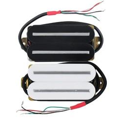 MyXL FLEOR 1 STKSRail Dual Blade Gitaar Single Coil Humbucker Pickup Keramische 4-Wires Gitaar Onderdelen Zwart/Wit kiezen