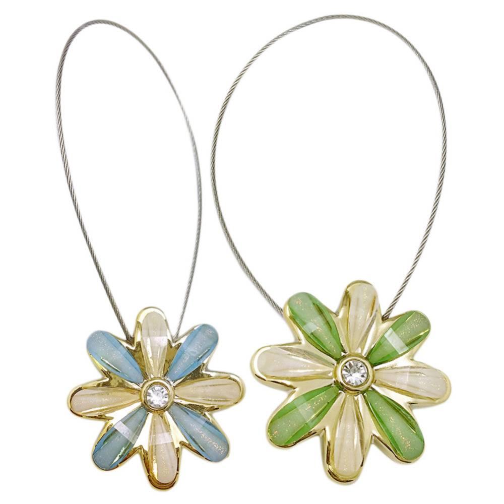 1 stks noble bloem draad gordijnen tieback magneet gordijnen gesp magnetische gordijn houder gordijn riem accessoires woondecoratie