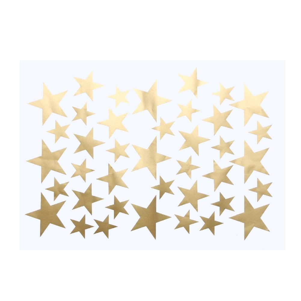 Diy 39 stks little gold star stickers home decor woonkamer ...