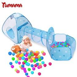 MyXL Tumama Kid Speelgoed Tent Opvouwbare 3 in 1 Indoor Ballenbad Tunnelbuis Teepee Tipi Tent Kinderen Baby Adventure Speelhuis Spel tenten