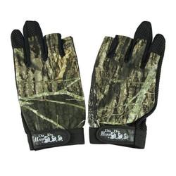 MyXL Pack 3 Cut Finger Anti Slip Green Camo camouflage Vissen Handschoenen Top Kwaliteit Buitensporten antislip Vissen handschoenen