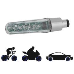 MyXL Dubbelzijdige LED Tyre Wheel Valve Flash Licht Brief Veranderen van Spaakwiel 7 LED Licht Voor Fiets Motorfiets En auto